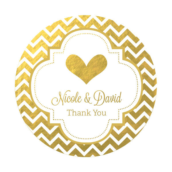 Personalized Wedding Label Min 24 labels