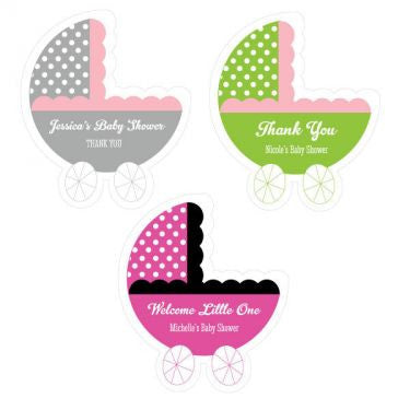 Personalized Baby Carriage Stickers ( Min 24)