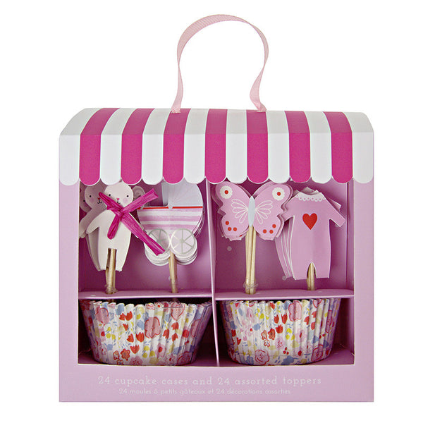Baby Girl Pink Cupcake Kit - 24 of each-