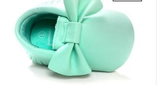 Handmade Soft Bottom Fashion Tassels Baby Moccasin Newborn Babies Shoes 14-colors PU leather Prewalkers Boots