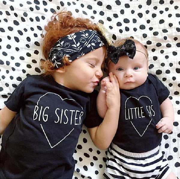 2016 New Fashion Kids T-Shirt Baby Boys Girls Clothes Big Bro Sister TShirt Top Summer Short Sleeve Casual Child Tops Shirt