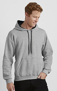 Contrast Hooded Sweatshirt with Print