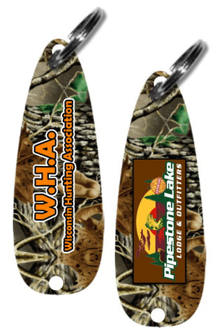 Camo Fishing Lure Keychain