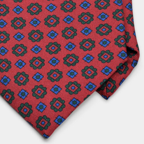Red Foulard Ancient Madder Tie