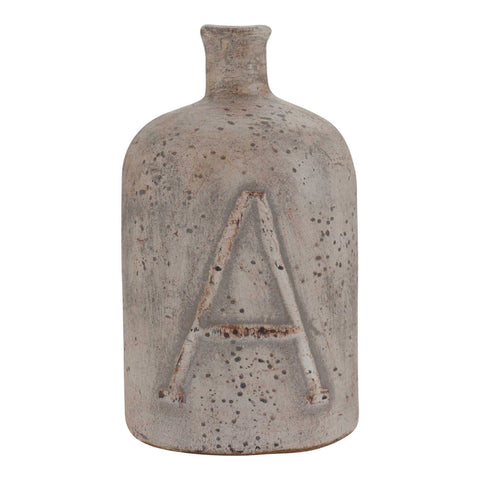 "Decorative Terracotta Bottle, Medium ""A"""