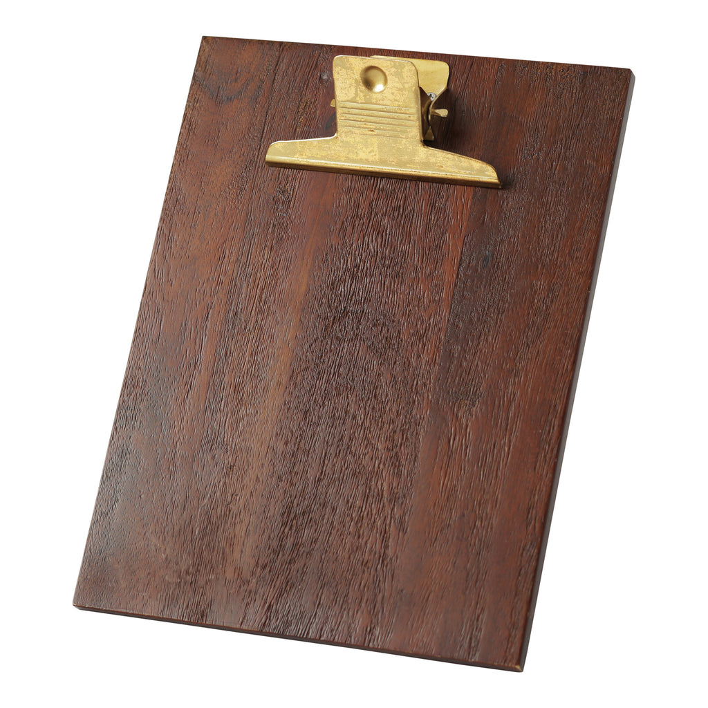 Hallmark Home Wood and Gold Accent Picture Frame, Large Clipboard