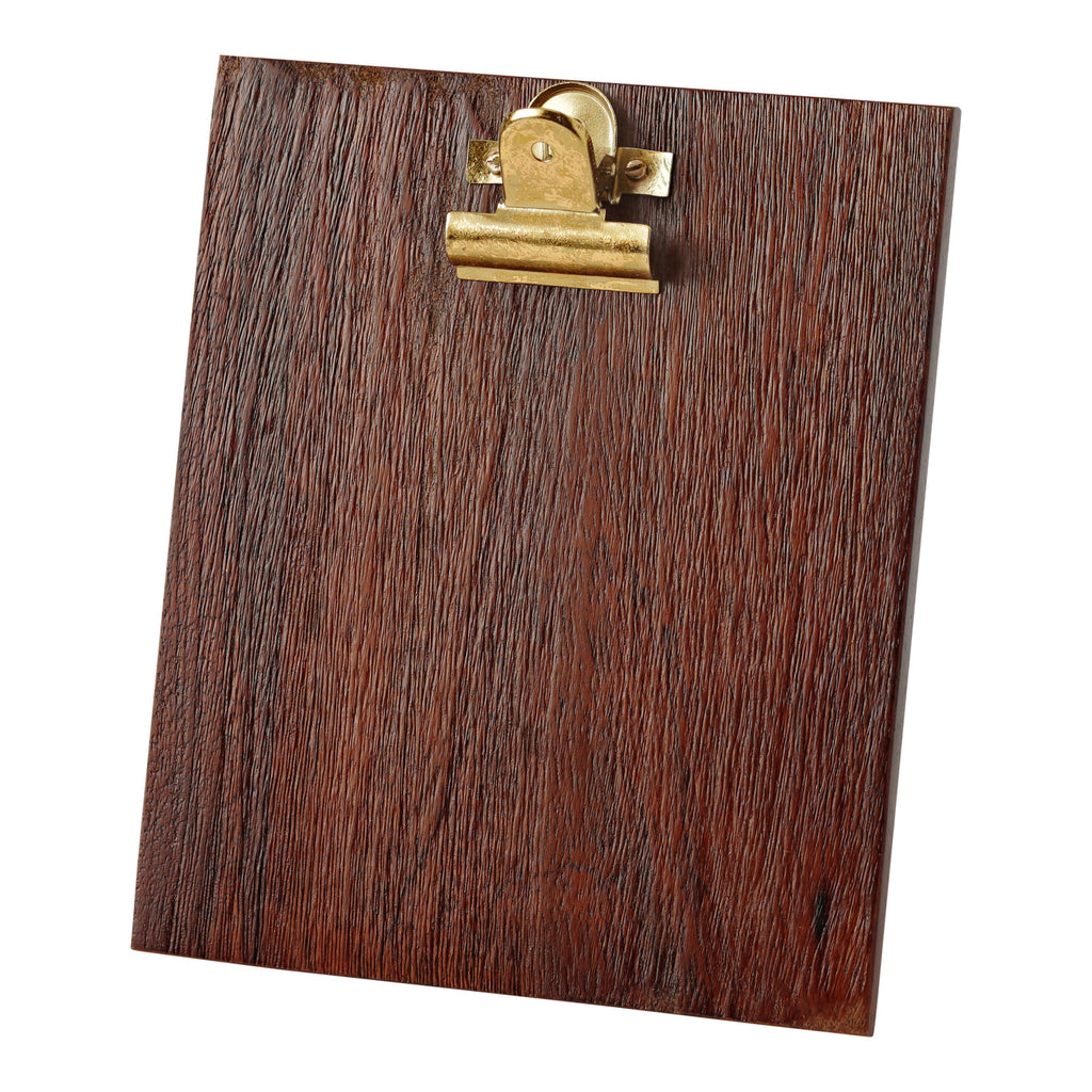 Hallmark Home Wood and Gold Accent Picture Frame, Small Clipboard