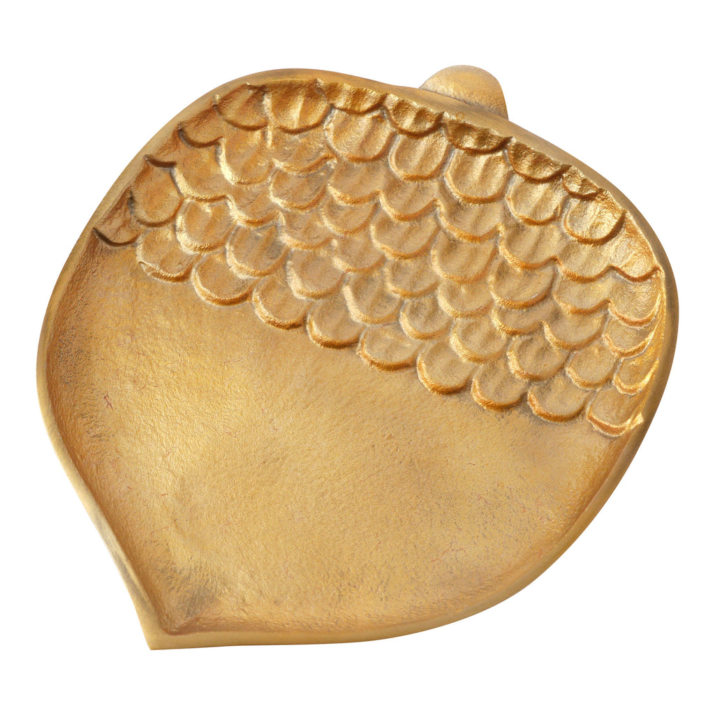 Hallmark Home Fall Decorative Gold Metal Acorn Plate, Large