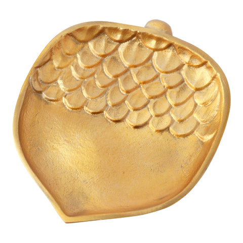 Hallmark Home Fall Decorative Gold Metal Acorn Plate, Medium