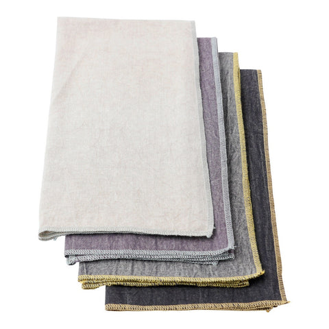 Chambray Bar Towels, set of 4 by Hallmark Home & Gifts