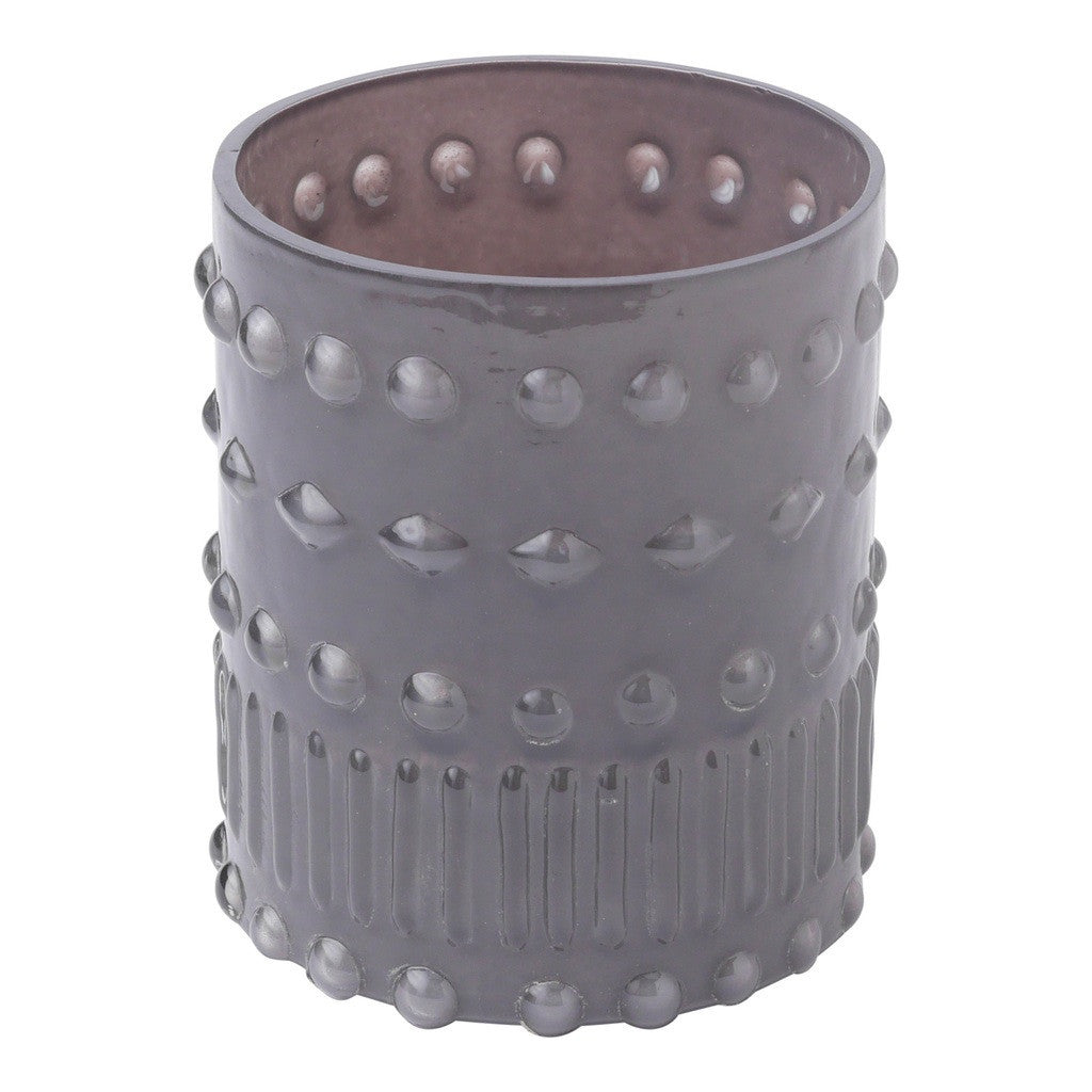 Gray Dots Glass Votive Holder Candle Holder by Hallmark Home & Gifts