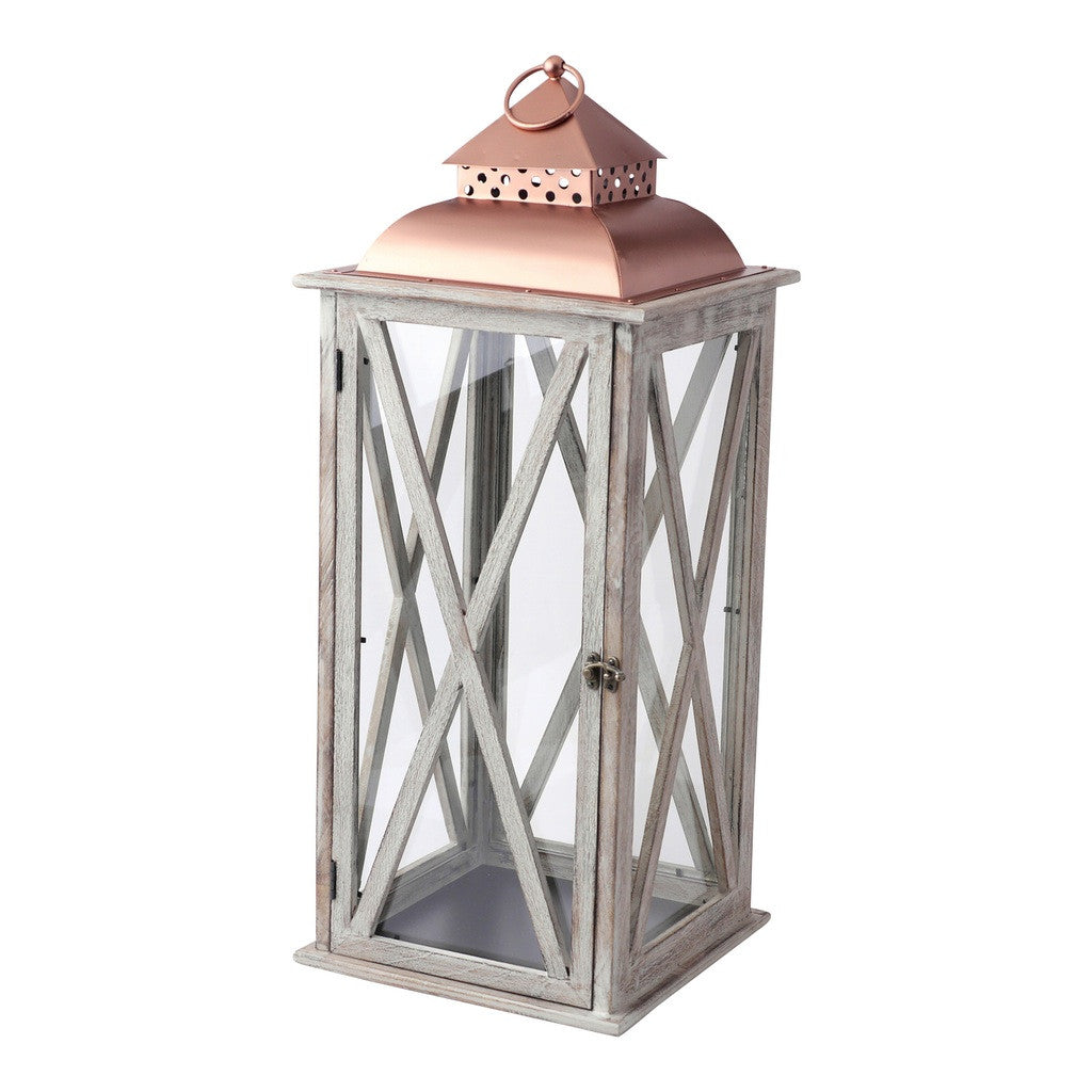 Large Metal Top Lantern Lantern by Hallmark Home & Gifts