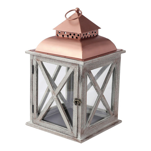 Medium Metal Top Lantern Lantern by Hallmark Home & Gifts