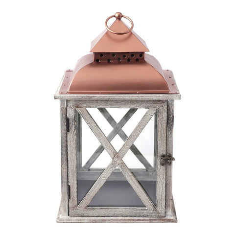 Small Metal Top Lantern Lantern by Hallmark Home & Gifts