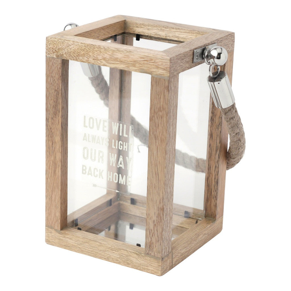 Lantern with Rope Handle Lantern by Hallmark Home & Gifts