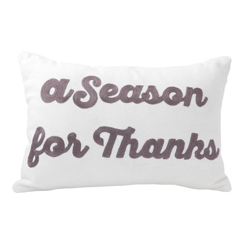 A Season for Thanks Bolster Pillow (18x12) Pillow by Hallmark Home & Gifts