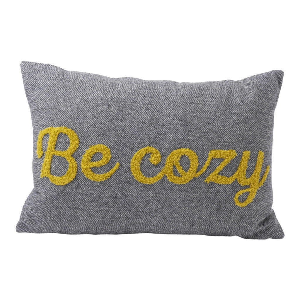 Be Cozy Bolster Pillow (18x12) Pillow by Hallmark Home & Gifts