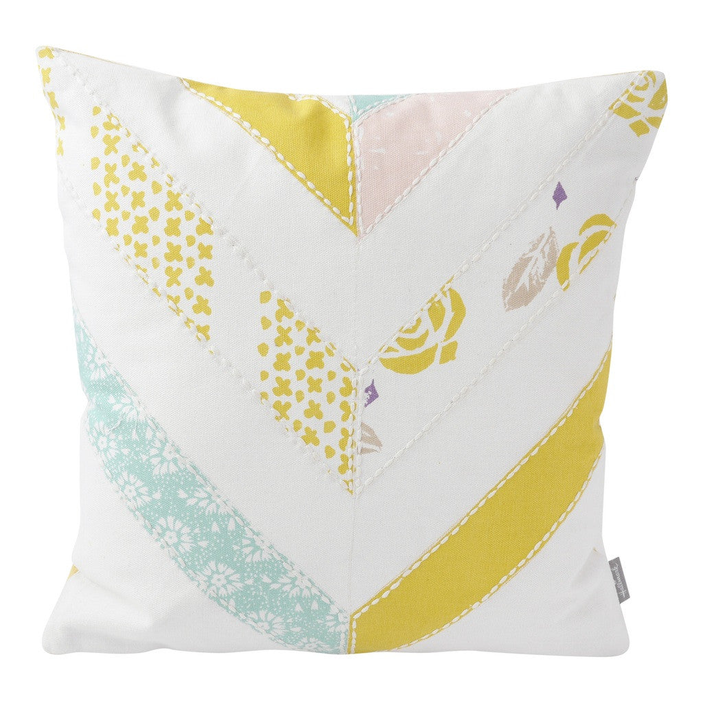 Chevron Patchwork Pillow (14x14) Pillow by Hallmark Home & Gifts