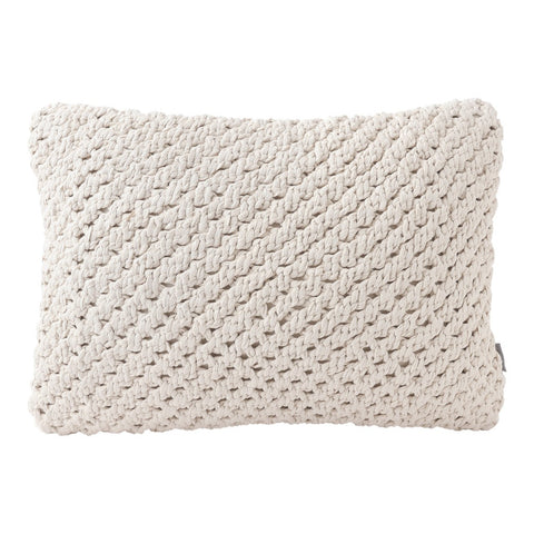 Cream Knot Pillow (16x12) Pillow by Hallmark Home & Gifts