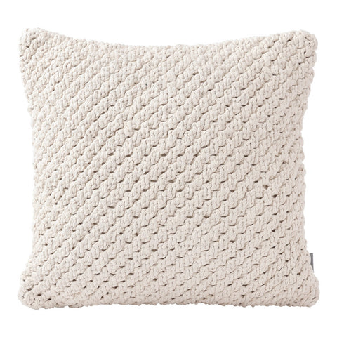 Cream Knot Pillow (16x16) Pillow by Hallmark Home & Gifts