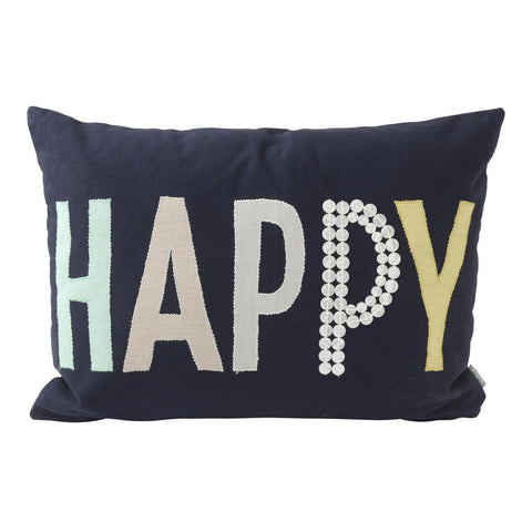 Happy Pillow (20x12) Pillow by Hallmark Home & Gifts