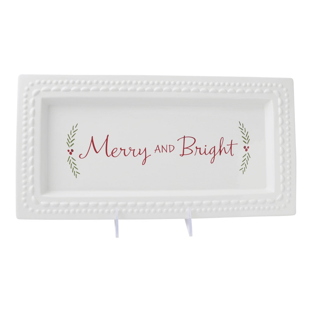 Merry and Bright Platter Platter by Hallmark Home & Gifts