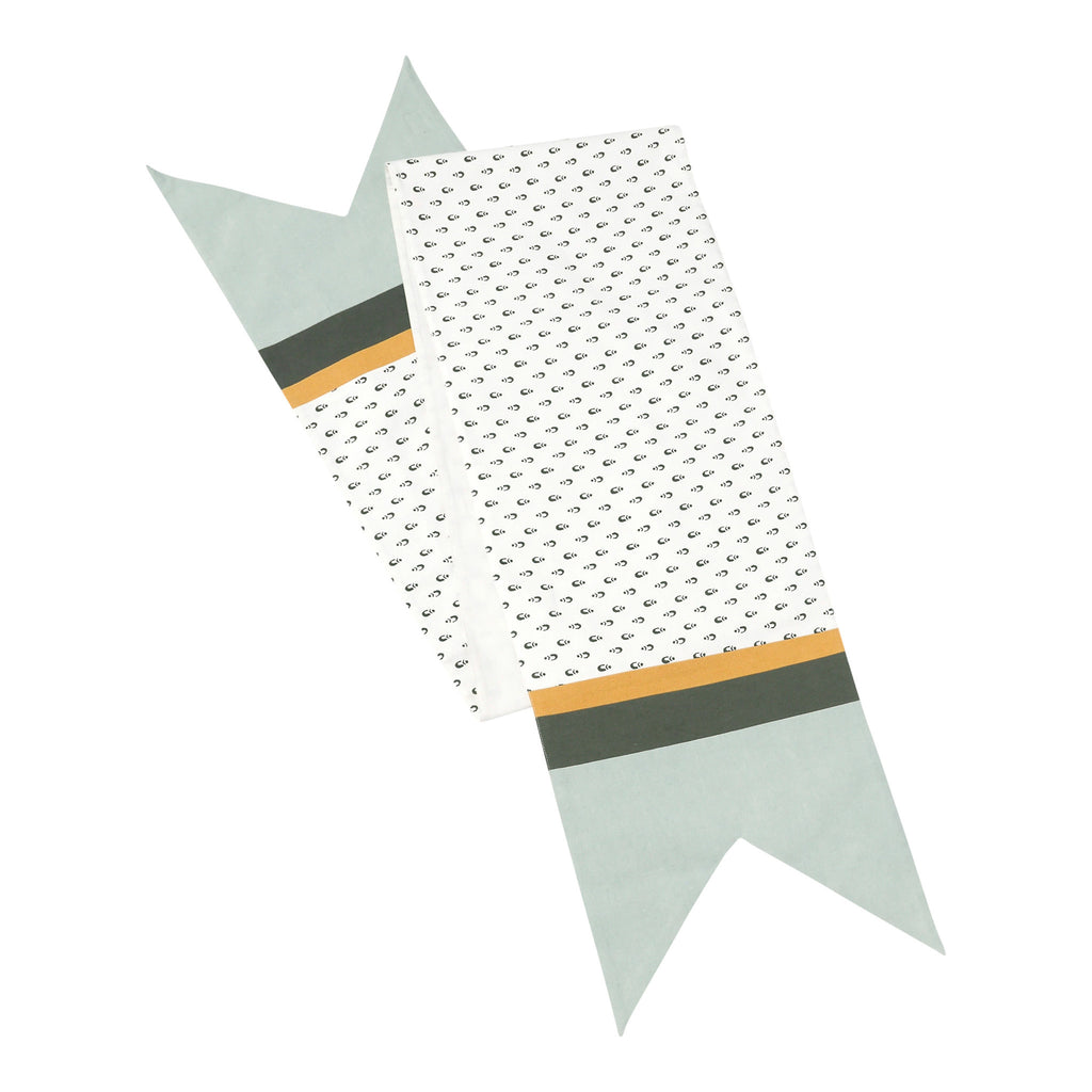 Hallmark Home Decorative Table Runner, Patterned Banner with Mustard and Mint Accents