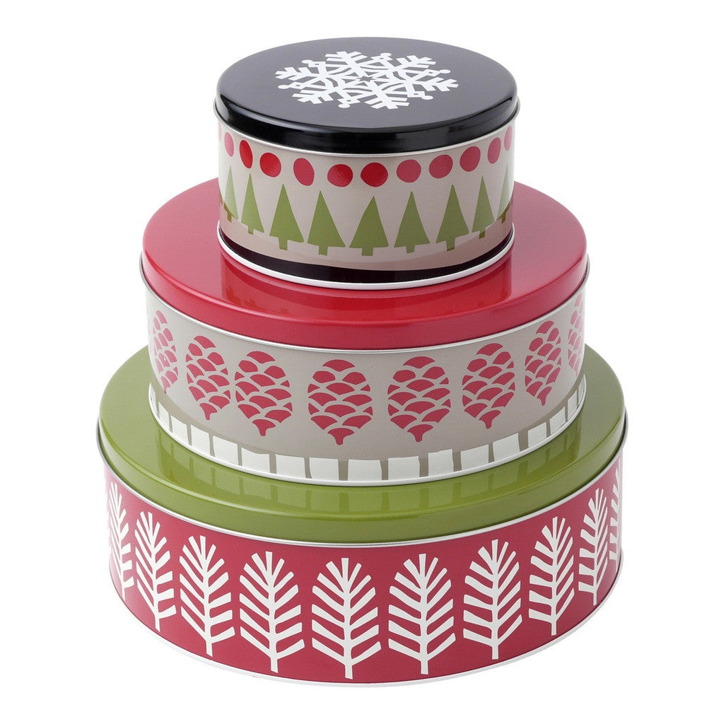 Patterned Tin, set of 3 Tin by Hallmark Home & Gifts