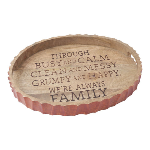 Etched Wood Tray Tray by Hallmark Home & Gifts
