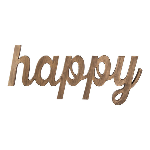 "Hallmark Home Burnished Gold Large ""Happy"" Word Art"