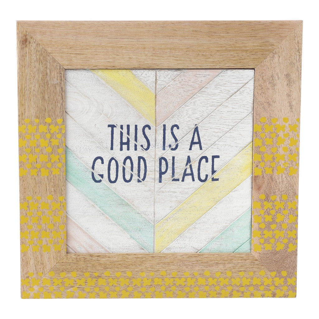 Wall Sentiment - Good Place Wall Dí©cor by Hallmark Home & Gifts