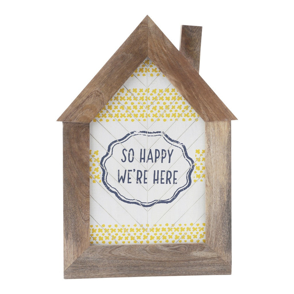 Wall Sentiment - Glad We're Here Wall Dí©cor by Hallmark Home & Gifts