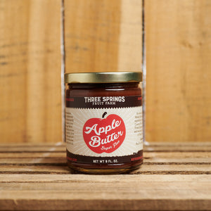 Three Springs Fruit Farm apple butter – no sugar added!