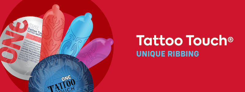 Add pleasure to your sex life by testing ribbed condoms, which feature slightly raised patterns on the exterior of the condom. Test our ONE Tattoo Touch or ONE Extreme Ribs!