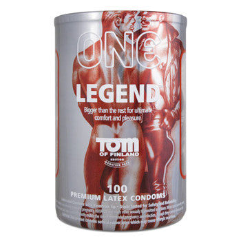 Legend XL Condoms - Tom of Finland Collection Bowl of 100