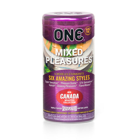 1 Mixed Pleasures Condom 12-Pack, Canada Collection