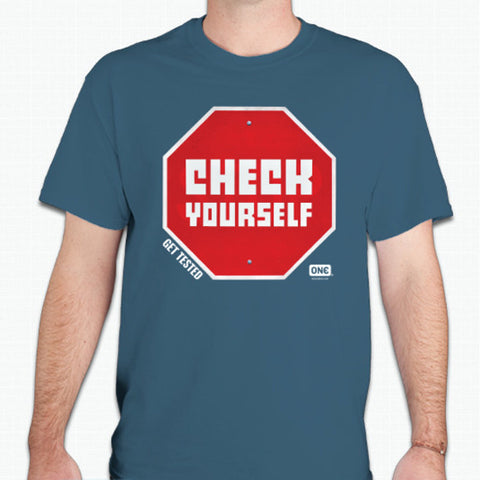 "Street Art Unisex Tee - ""Check Yourself"""