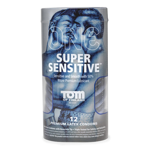 Super Sensitive Condoms - Tom of Finland Collection 12-Pack