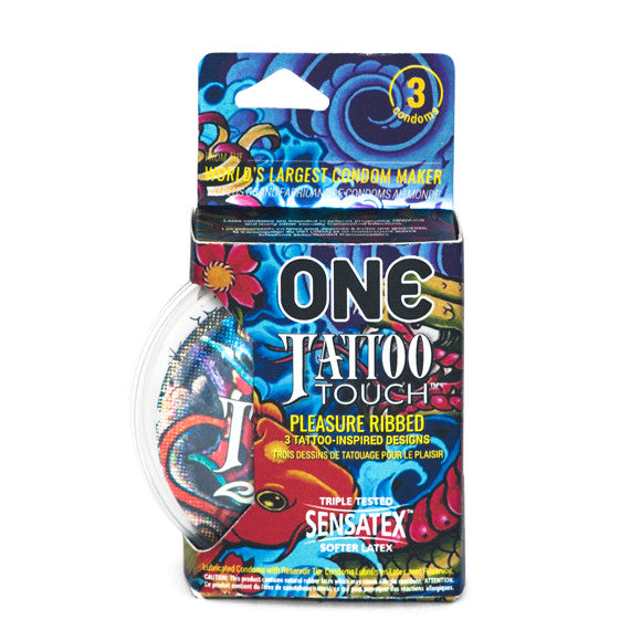 ONE® Tattoo Touch™ Condoms 3-pack
