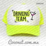"Gorra estampada ""Drinking Team"" Cute"