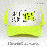 "Gorra estampada ""She said yes!"" Cute"