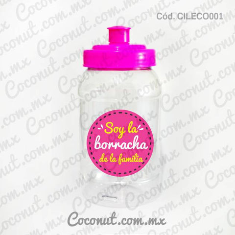 "Cilindro Pocket de 500 ml. ""Soy la borracha de la familia"""