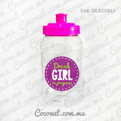"Cilindro Pocket de 500 ml. ""Drunk girl in progress"""