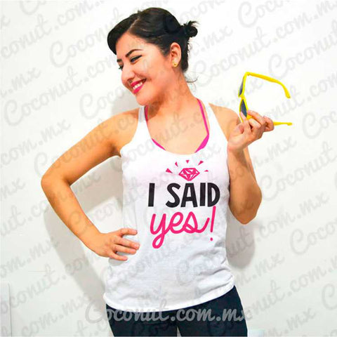 "Blusa ultraligera ""I said yes!"""