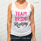 "Blusa de tirantes ""Team Bride Rocking"""