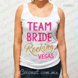"Blusa de tirantes ""Team Bride Rocking Vegas"""