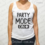 "Blusa de tirantes ""Party Mode On"""
