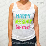 "Blusa de tirantes ""Happy Beer-day to me"""