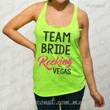 "Blusa ultraligera ""Team bride rocking Vegas"""
