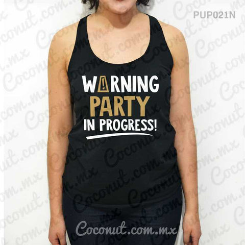 "Blusa ultraligera ""Warning, party in progress!"""
